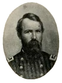General George Washington Clark, appointed colonel of the 34th Iowa Volunteers. Illustration in History of Iowa From the Earliest Times to the Beginning of the Twentieth Century, 1903; via Wikipedia, public domain.