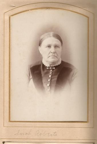 Sarah (Christie) Roberts, from a William Roberts Family Photo Album.