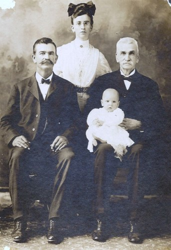 1909_0822_roberts_four-generations_maude-mae-jensma-infant-edward-jensma_her-father-william-edward-roberts_his-father-john-roberts-on-right