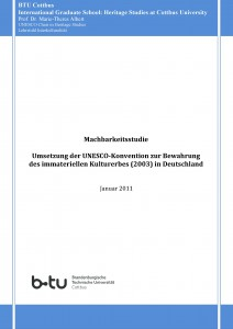 Feasibility Study for the Implementation of the UNESCO Convention for the Safeguarding of the Intangible Cultural Heritage