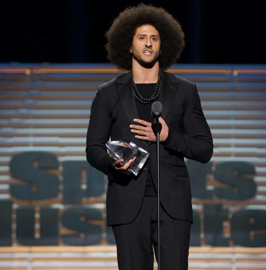 Colin Kaepernick Receives Sports Illustrated's Muhammad Ali Legacy Award