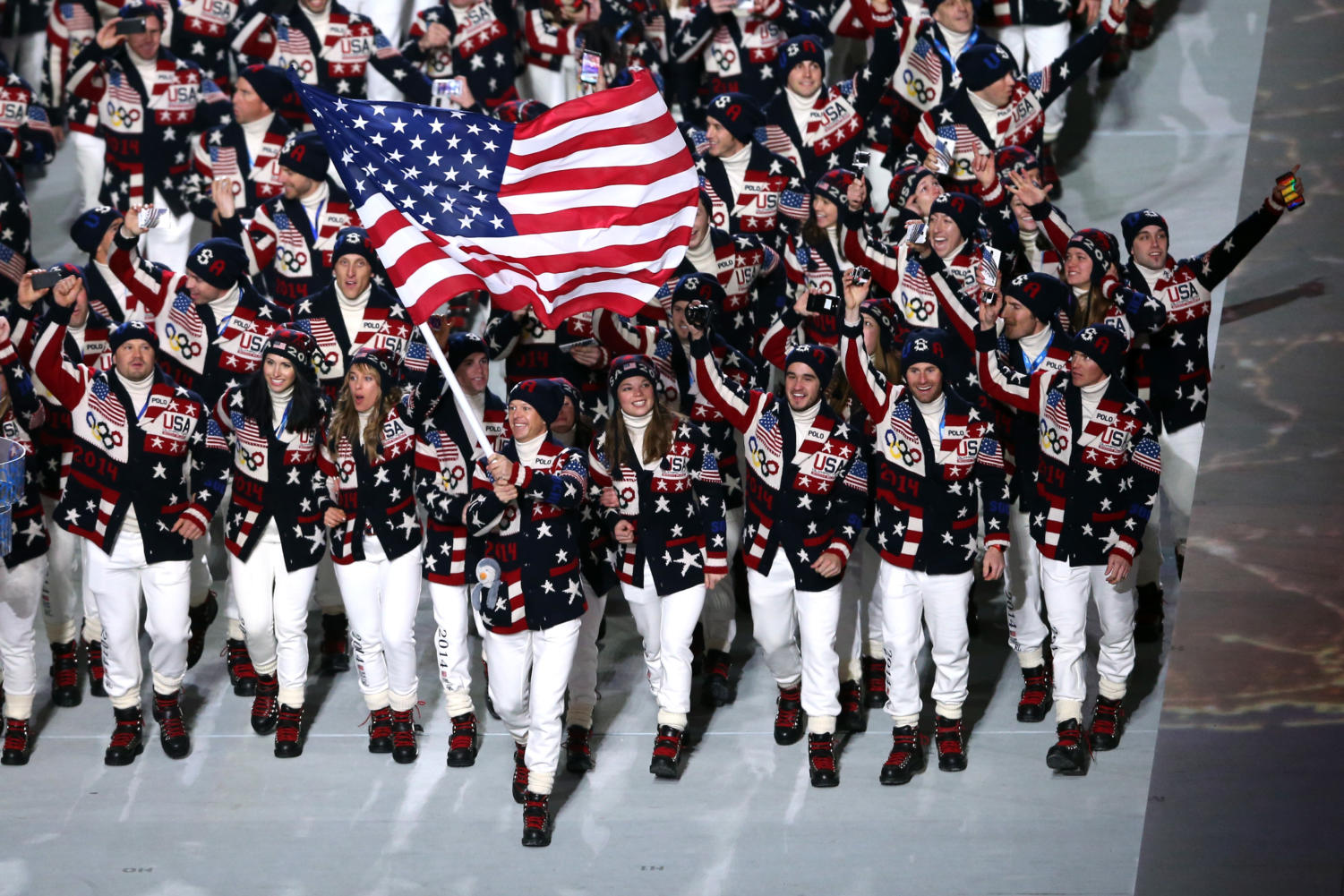 Team USA during the opening ceremony of the 2014 Winter Olympics in Sochi.