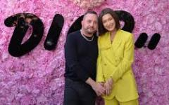 Alternate Text Not Supplied for bella hadid with kim jones.