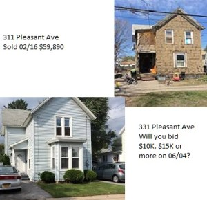 331 Pleasant Ave Herkimer on auction June 4, 2016