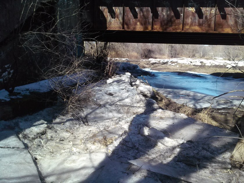 Ice barrier applied to south side of Herkimer Meth Bridge