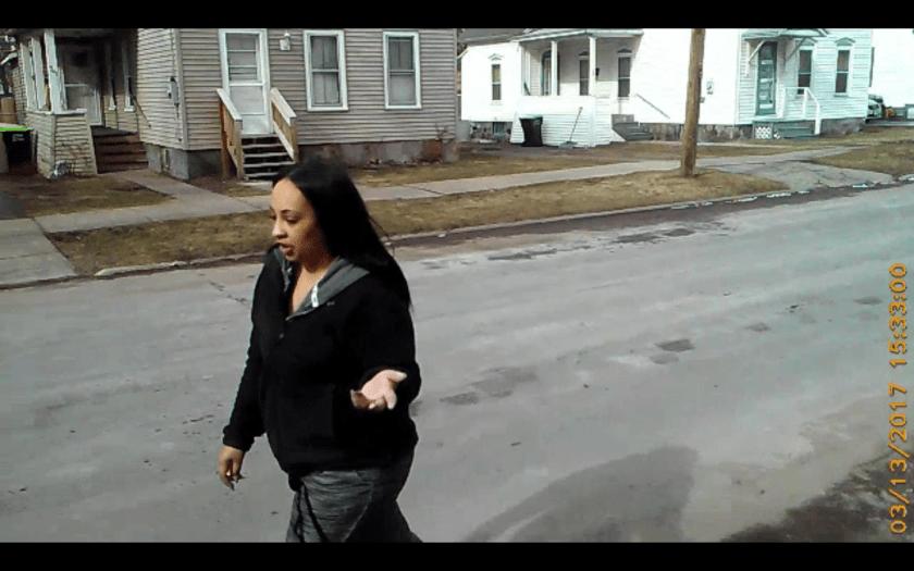 Herkimer's Kyra Sykes harasses elderly war vet in the street.