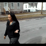 Herkimer's Kyra Sykes harasses elderly war vet in the street.