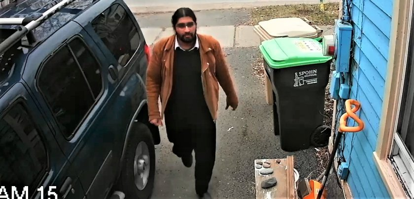 "4.11.19 University of Michigan musicologist Somangshu Mukherji braving the ""seedy reek"" of his ""trailer trash"" American family's' neighborhood."