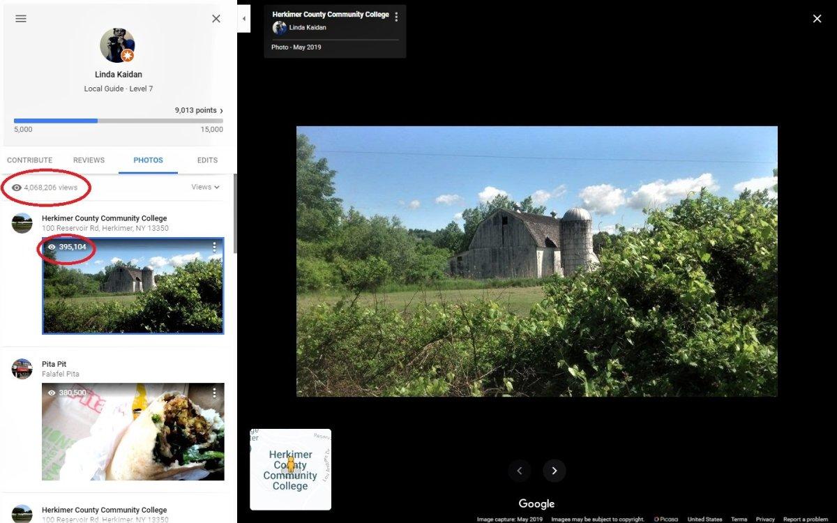 Linda Kaidan's Herkimer area photos draw over 4 million views of Herkimer area on Google Maps