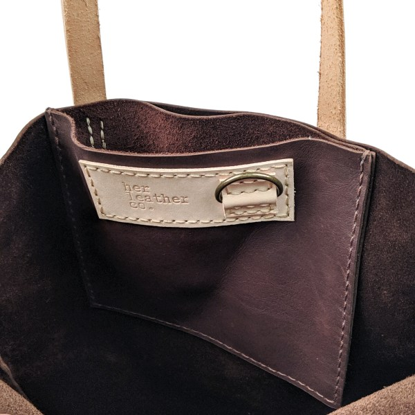 Recycled Repurposed Leather Maxi Tote