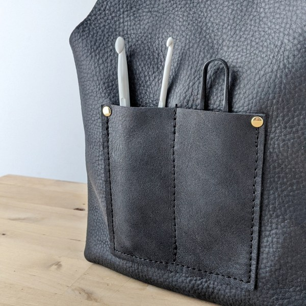 Betty Project Bag Pocket Detail Black