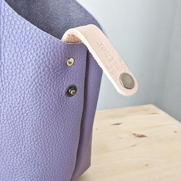 Beatrice Project Bag Snap Loop Violet