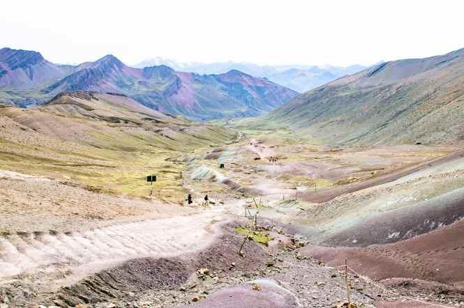 Hiking up to Rainbow Mountain