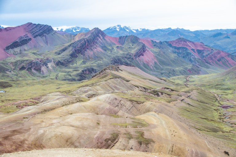 Rainbow Mountain Peak View