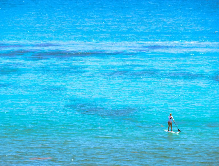 Go Paddle Boarding in Cancun Adventurers Guide to 1 Week in Tulum - Discover where to eat, where to stay, and adventures such as Scuba diving, snorkeling, kayaking and more! Quintana Roo Mexico #mexico #travel #mexicopacking #wheretostay #hiddengem #vacation #travelguide #adventure #traveltips #northamerica #traveldestinations  #bestbeach #cenote #adventure