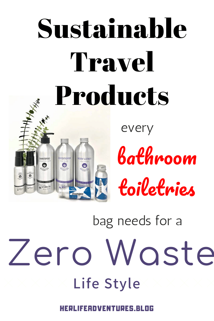 Sustainable Travel toiletries Zero Waste Bathroom Products