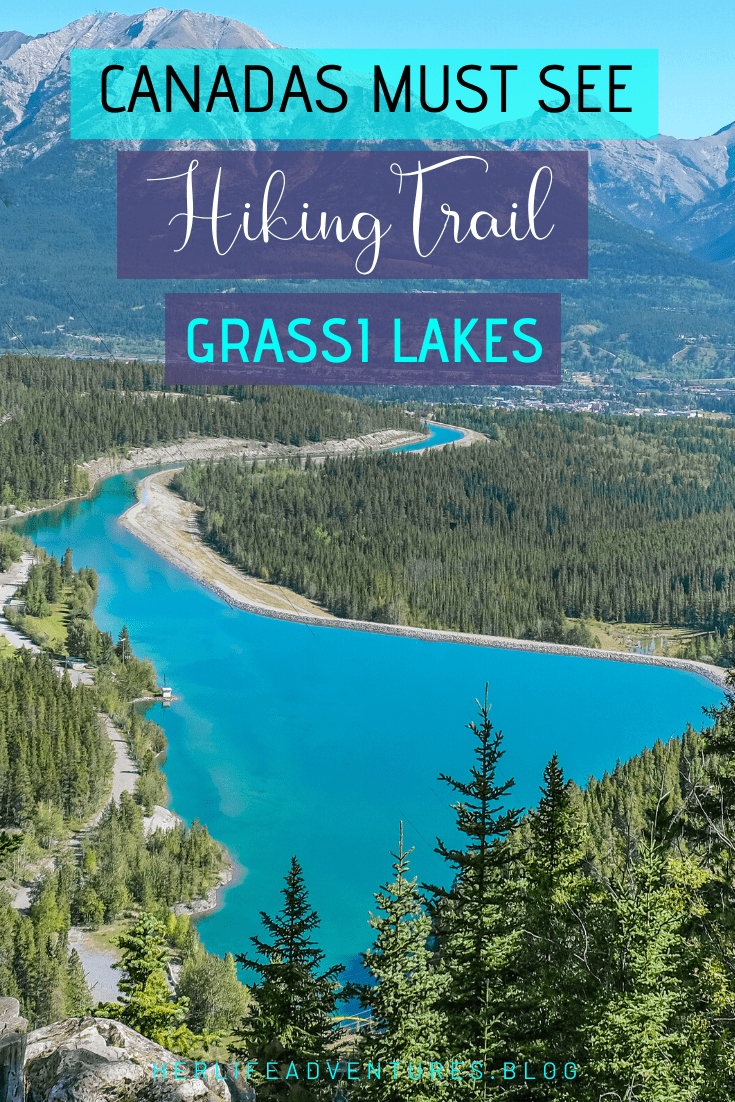 Grassi Lakes trail in Canmore, Alberta Canada leading you to 2 jaw dropping lakes. | Her Life Adventures | #grassilakes #canmore #albera #canada #howtofind #wheretogo #whattodo #trail #hike #winter #summer