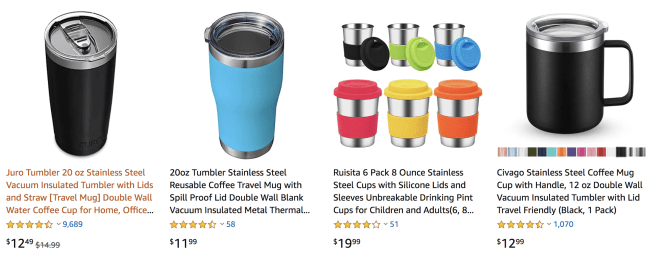 Unique Eco Friendly Travel Essentials; gifts; environmentally friendly; zero waste; reusable coffee cups; coffee mugs
