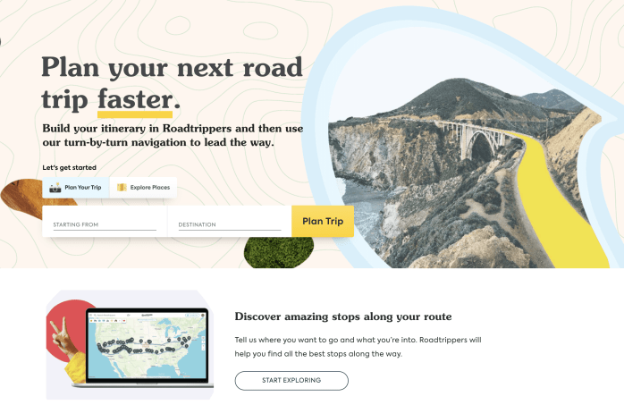 Build your own custom itinerary with Roadtrippers showing you all the best stops