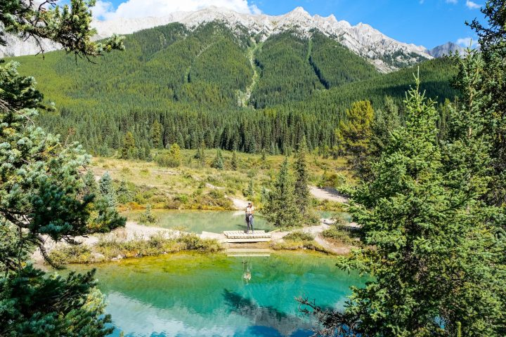 The Ink Pots hike in Banff National Park will take you to 5 crystal clear, beautifully colored natural pools.