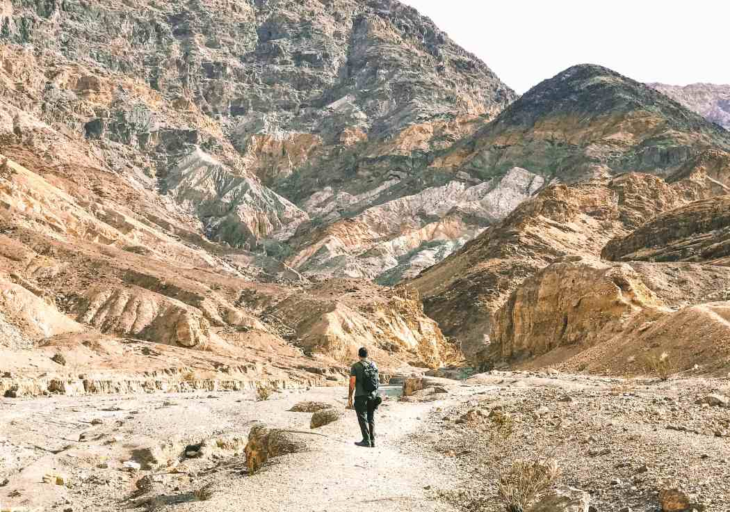 Hike through the incredible marble canyon while visiting Death Valley National Park.