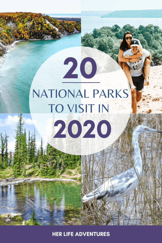 20 National Parks to Visit in 2020 for your bucket list, because you won't want to miss these extraordinary national parks! #nationalpark #bucketlist