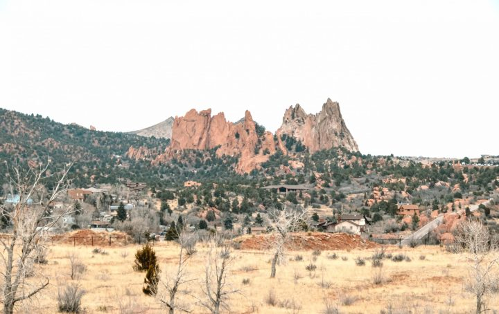 Garden of the Gods Park is a registered National Landmark in Colorado Springs, USA