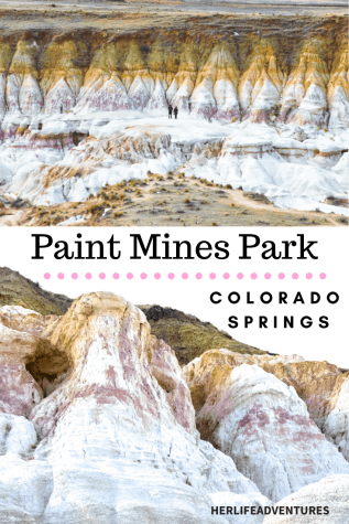 Paint Mines Interpretive Park is Colorado's BEST KEPT SECRET. Rainbow colored formations just outside of Colorado Springs. #rainbow #paintmines #coloradoparks #hiddengem #paintminespark