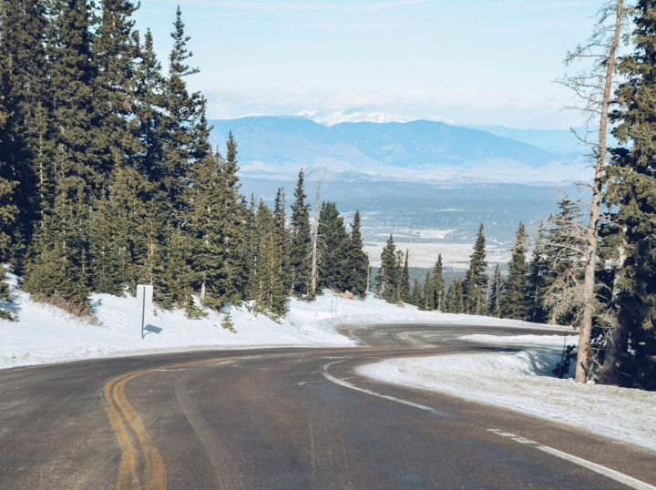 Pikes Peak scenic roadway in Colorado