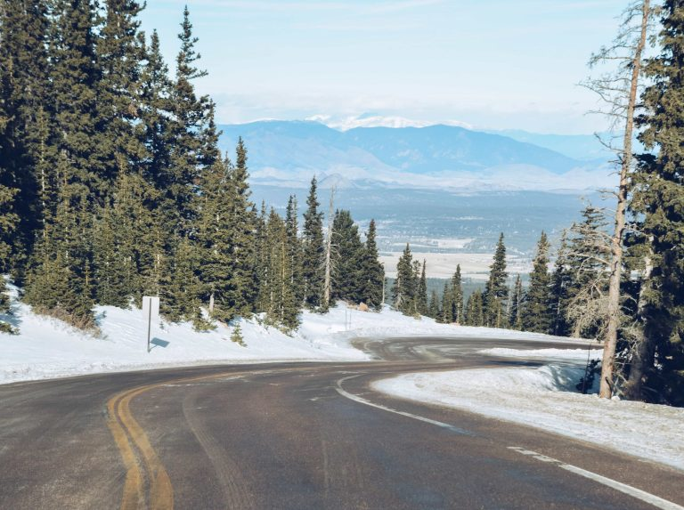 Pikes Peak scenic roadway in Colorado