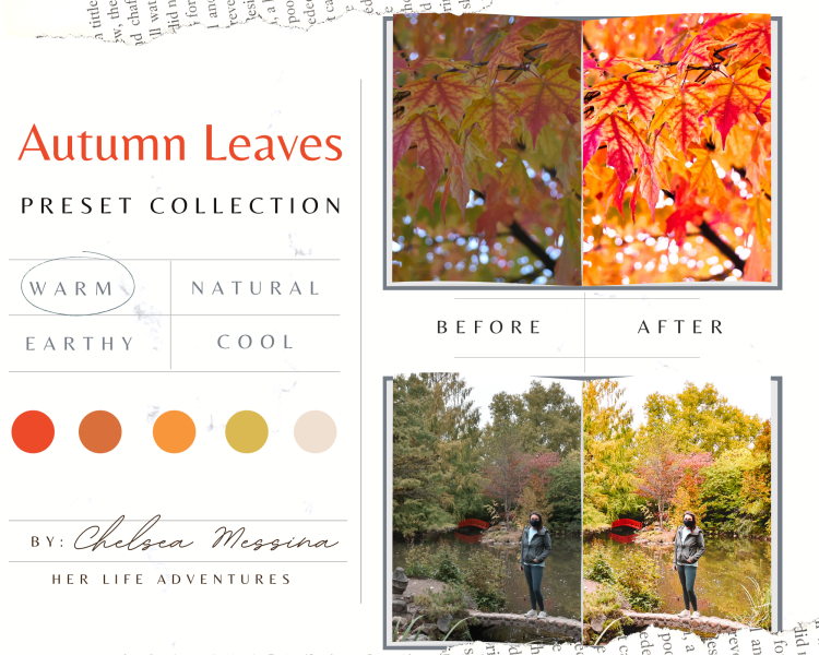 #Autumn Leaves #lightroom #preset #collection is perfect for a quick #photoedit that saves you time while still #editing beautiful #photos