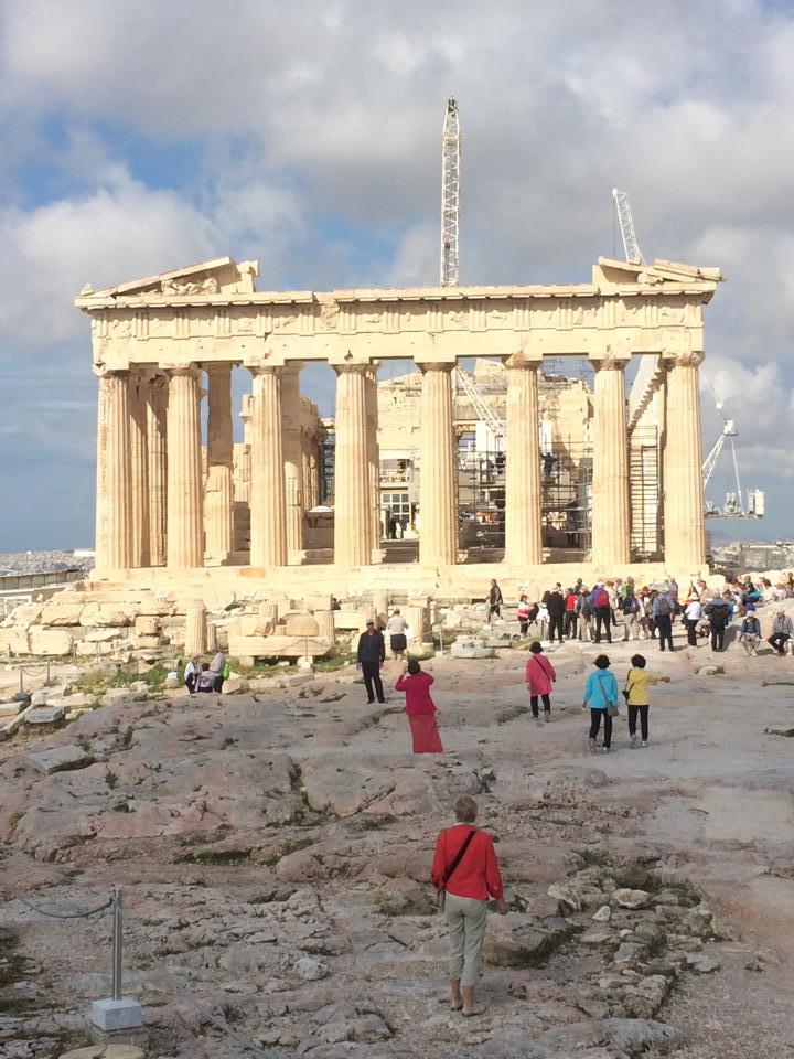 The Parthenon, located in the Acropolis complex