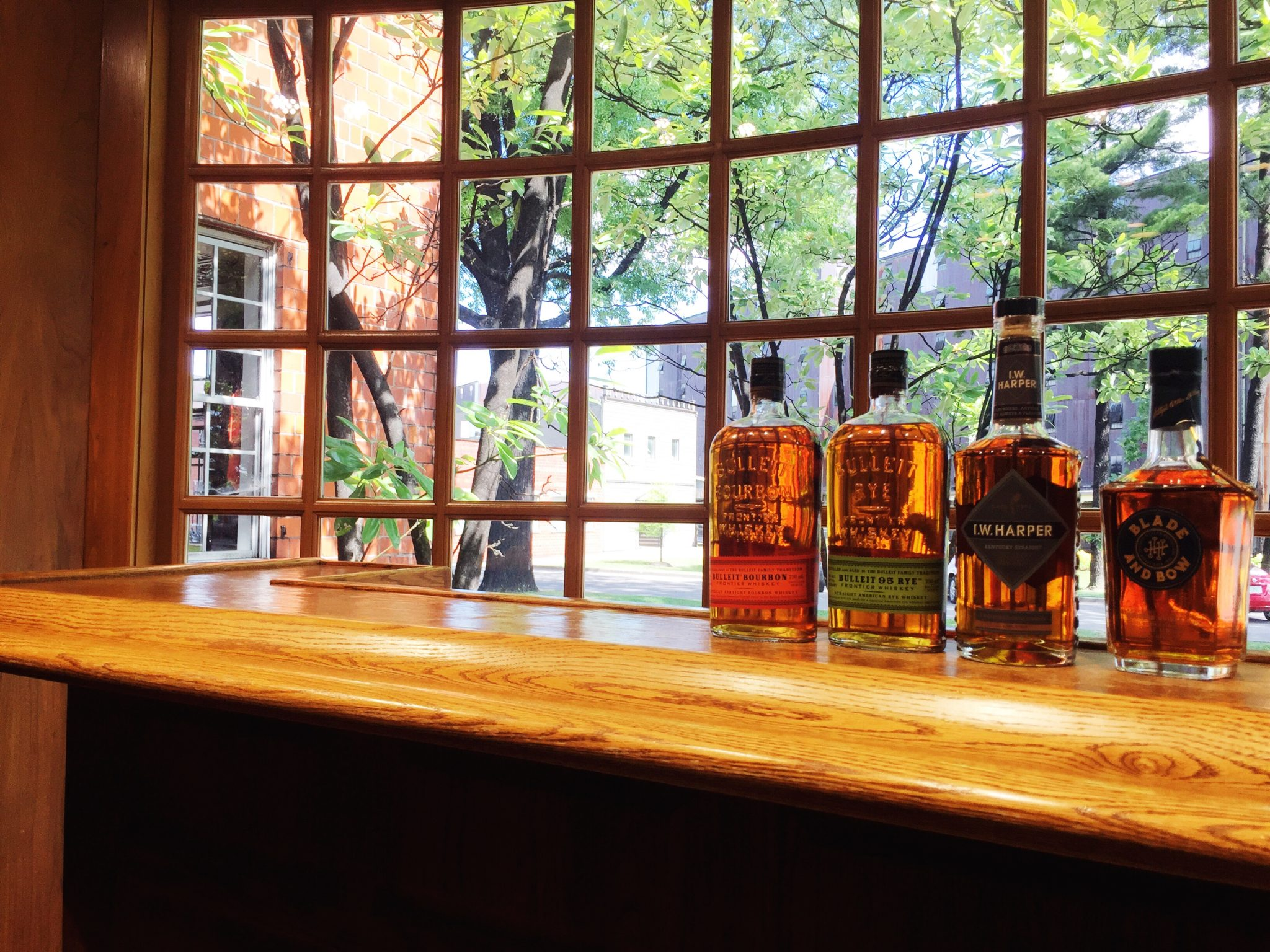 The tasting bar at Bulleit Frontier Whiskey