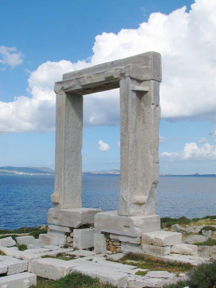 The Portara in Naxos, Greece