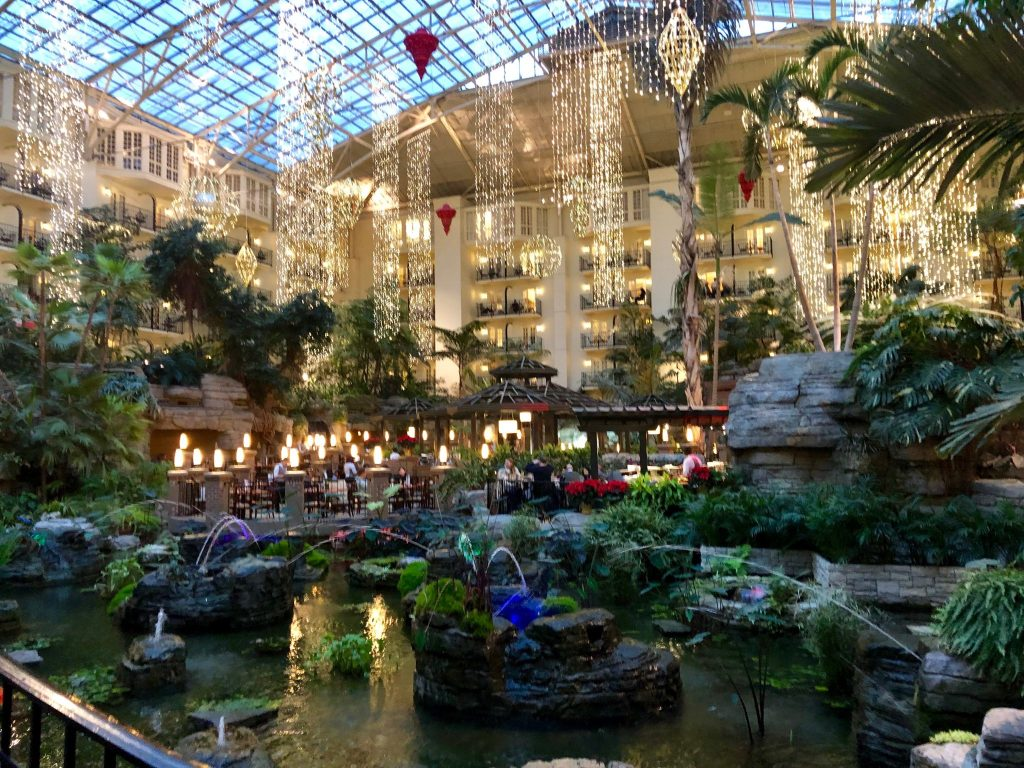 Hanging Lights in the Cascades Atrium at Gaylord Opryland Resort