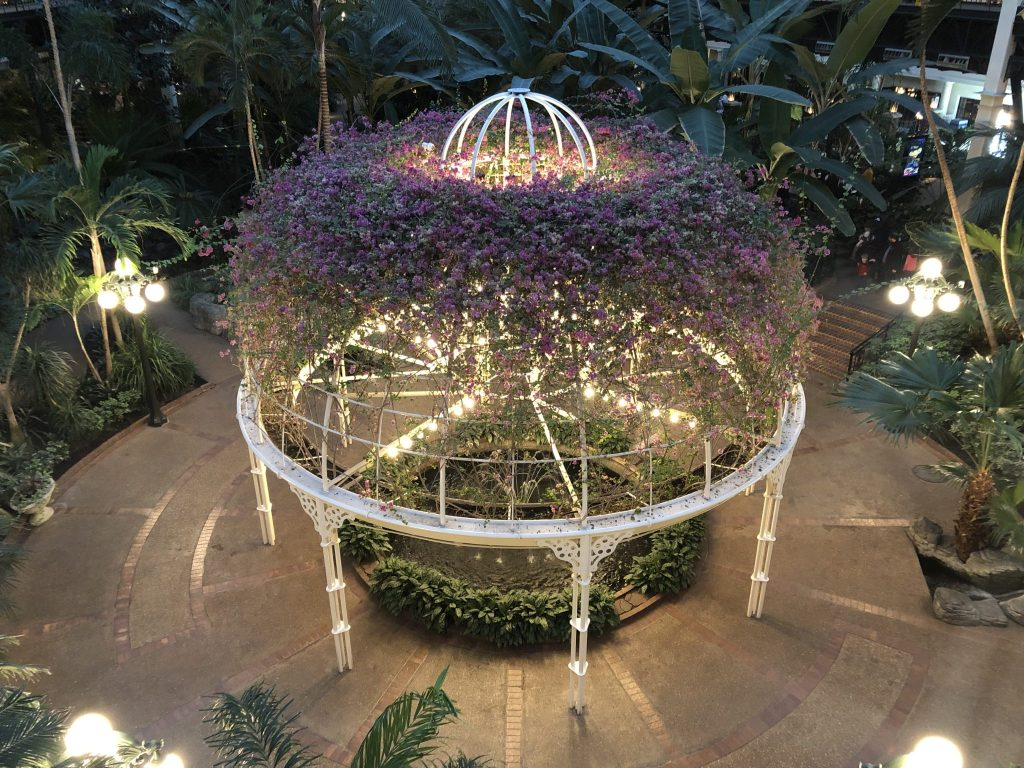 The Crystal Gazebo in the Garden Conservatory at Gaylord Opryland Resort