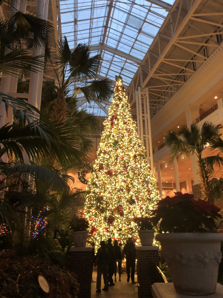 Giant Christmas Tree in the Delta Atrium at Gaylord Opryland Resort