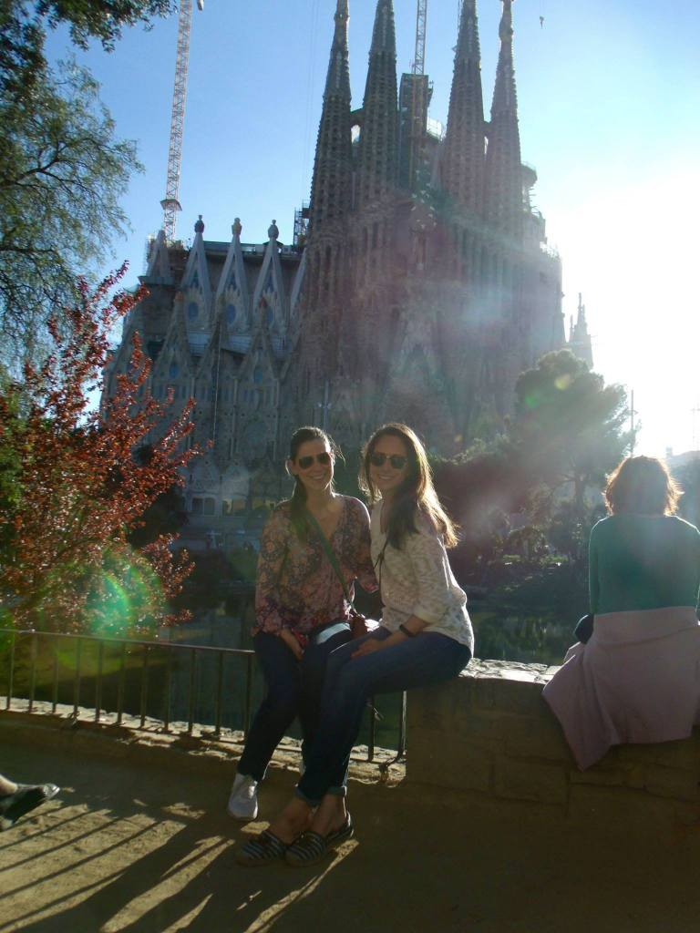 My friend and me with the Sagrada Familia | Her Life in Ruins