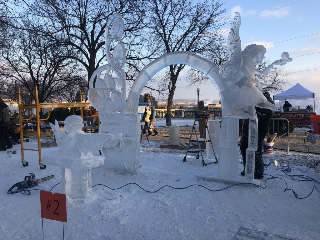 A Pixie inspired arch ice sculpture at the Saint Paul Winter Carnival   Her Life in Ruins