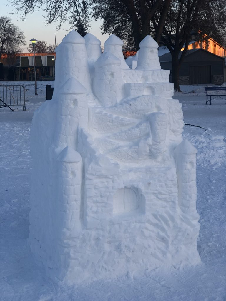 Snow Castle at the Vulcan Snow Park | Her Life in Ruins