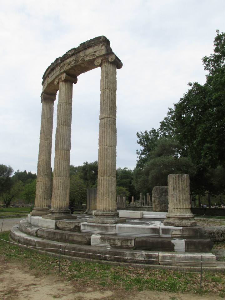 One of the temples of Ancient Olympia