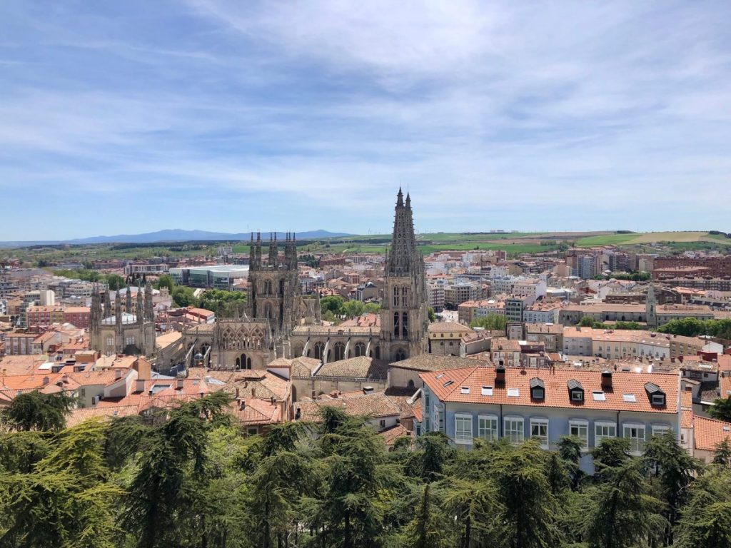 View of Burgos from a fortress along the Camino | Her Life in Ruins