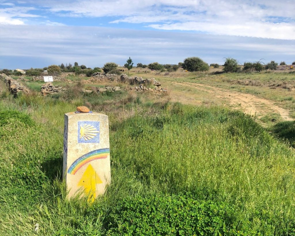 A Camino Way Marker | Her Life in Ruins