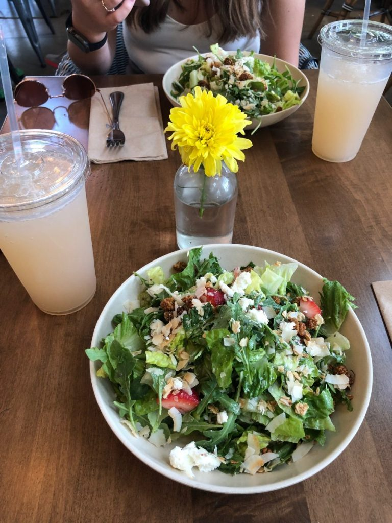 Salad and Rose Petal Lemonade from Flower Child | Everything's Better in (Houston) Texas! | Her Life in Ruins