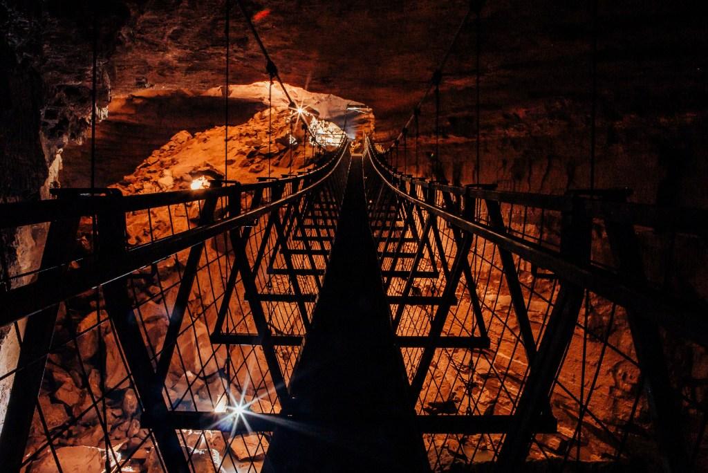 The Worlds Longest Underground Suspension Bridge at Hidden River Cave