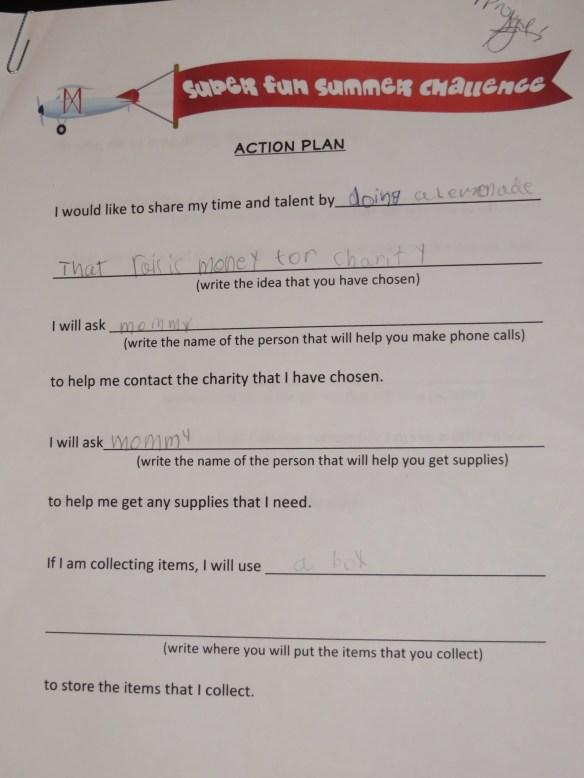 summer challenge action plan