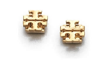 tory-burch-goldtone-logo-stud-earring
