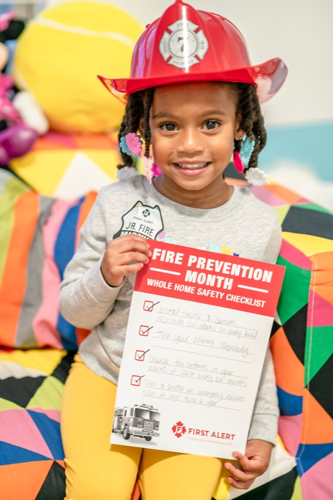 fire prevention month with first alert and making a fire safety plan