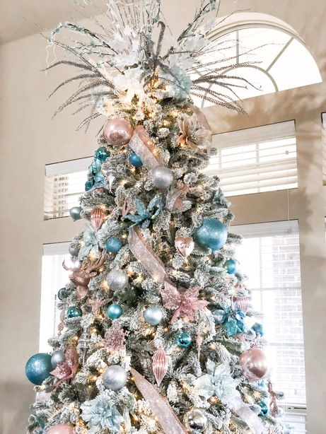 topper of a glam christmas tree