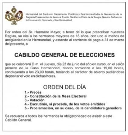 citacion cabildo elecciones